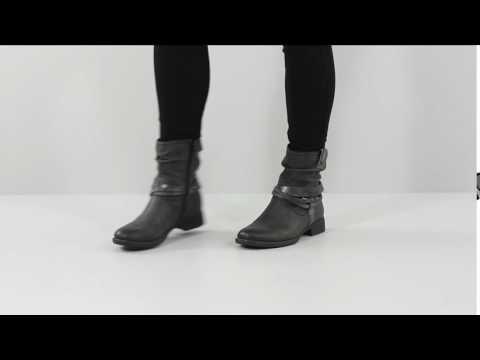 Biker Style Ankle Boot - Soft Line by Jana - 25461