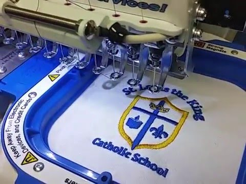 Embroidery St Louis The King Catholic School Logo Youtube