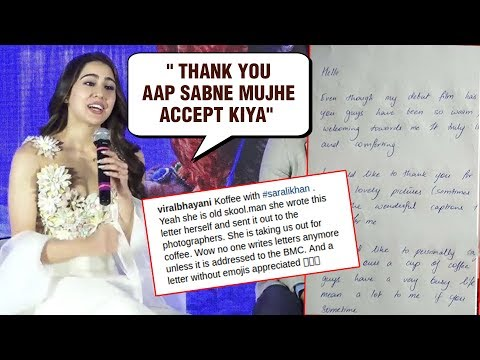Sara Ali Khan SWEET Gesture For The Media, INVITES Them For A Coffee