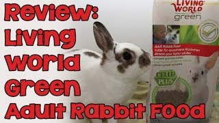 BudgetBunny: REVIEW | Living World Green Adult Rabbit Food by Hagen