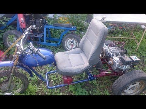 Испытания самоделок из мотоблока . Super Bike V/s Minitractor.