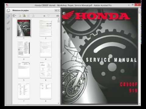 Honda CB900F Hornet - Service Manual - Wiring Diagram - YouTubeYouTube