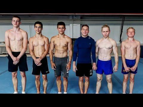 Заруба гимнастов: отжимания