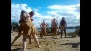 مصارعة نسائية، بين رجل وإمرأة، في اوربا.