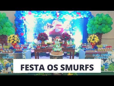 Decoração de festa - Os Smurfs