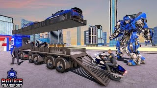 US Police Robot Transform - Police Plane Transport | Android Gameplay