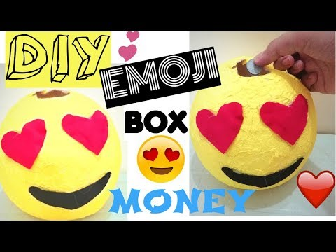 DIY Emoji Money Box Out Of Tissue Papers-How To Make Money Box Room Decor