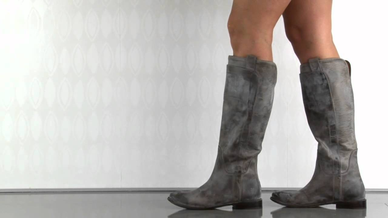 56c7c7373826 Frye Shoes Paige Tall Riding in Grey - YouTube