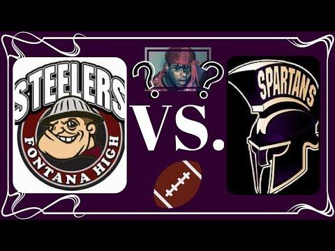 Fontana High School VS. Jurupa High School Varsity Football *We met SKI MASK THE SLUMP GOD!!*