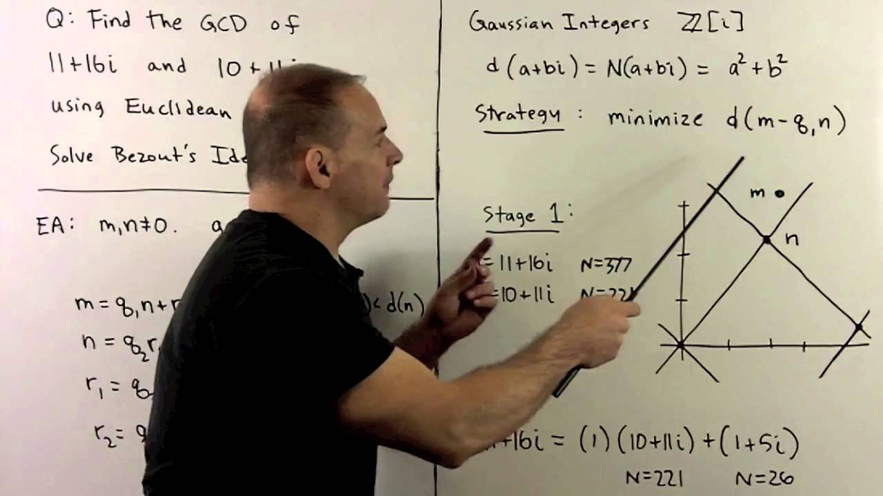 RNT2 3 1  Euclidean Algorithm for Gaussian Integers