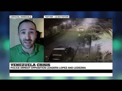 "Venezuela: ""shocking images"" emerge of police arresting opposition leaders Lopez and Ledezma"
