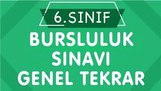 6. Sınıf Matematik BURSLULUK SINAVI Genel Tekrar (CANLI YAYIN)