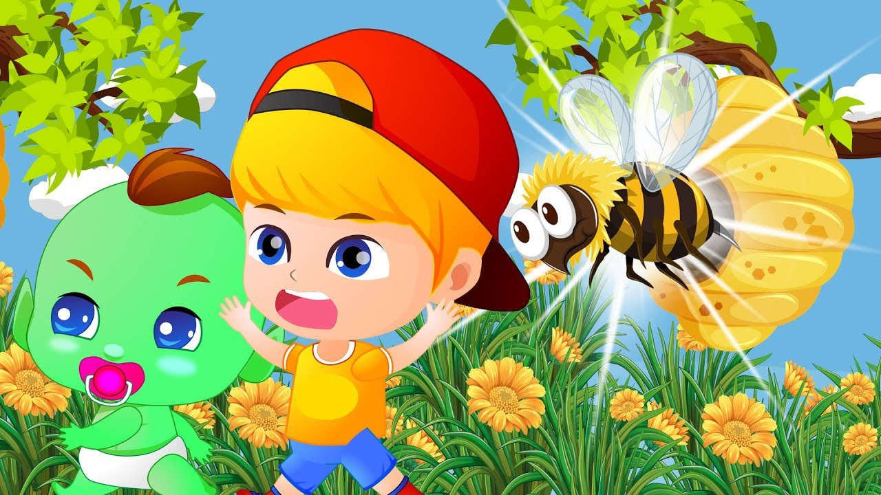 Jan Cartoon Flowers Of Jan Baby And Bees 7 Cartoons For Kids Jac Youtube