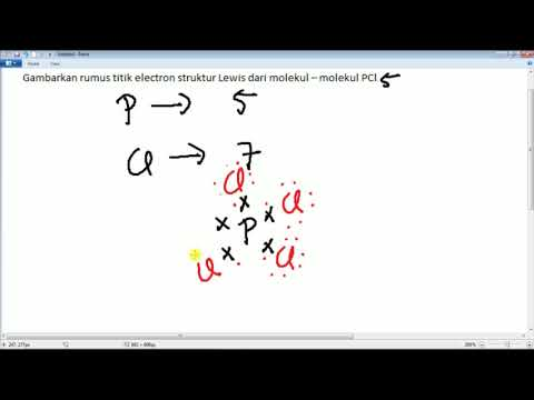Menggambar Rumus Titik Electron Struktur Lewis Dari Pcl5 Youtube