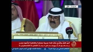 كلمة أمير قطر في القمة العربية الرابعة والعشرين