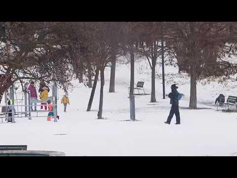 Estampas de un Valladolid nevado