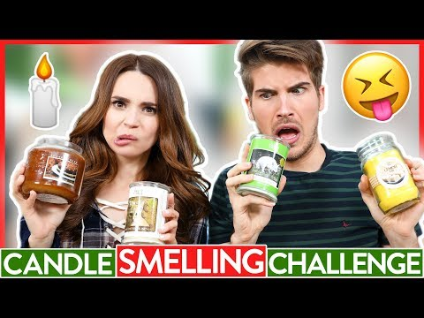 CANDLE SMELLING CHALLENGE Ft Joey Graceffa!
