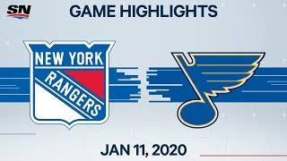 NHL Highlights   Rangers vs. Blues – Jan. 11, 2020