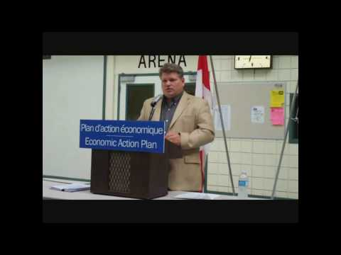 Randy Hoback MP & Government of Saskatchewan Invest in Tisdale's Recreational Infrastructure 090827