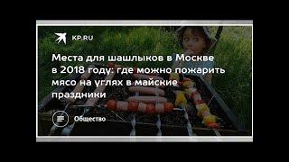 Места для шашлыков в Москве в 2018 году: где можно пожарить мясо на углях в майские праздники