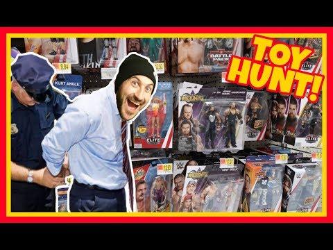 TOY HUNT!!! STEALING FROM WALMART!!! (1/3) WWE Wrestling Figure Fun #109
