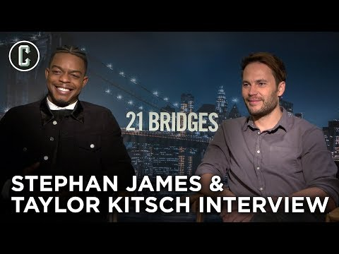 21 Bridges: Stephan James & Taylor Kitsch Interview