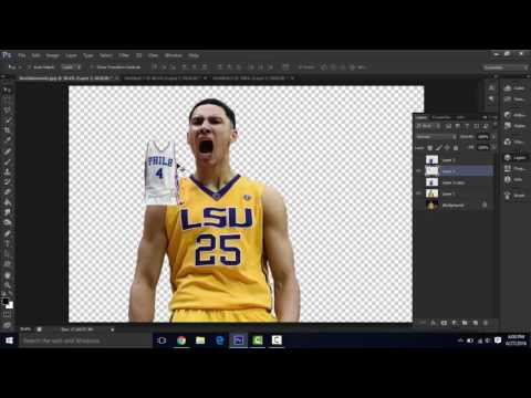 How to make a sports jersey swap (NBA) in Photoshop
