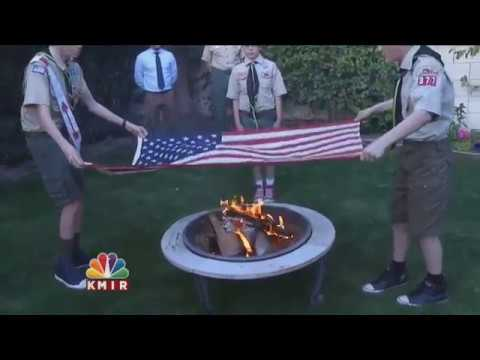HOW TO RETIRE AN AMERICAN FLAG; A BURNING QUESTION