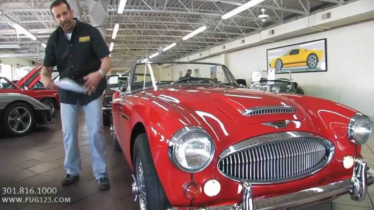 1967 Austin Healey 3000 for sale with test drive, driving sounds, and walk  through video