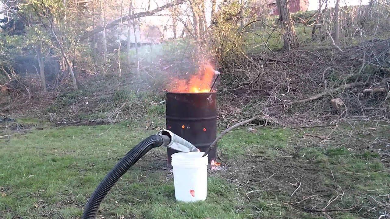 50 gallon drum furnace youtube