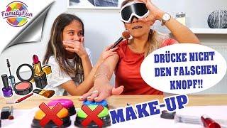 DRÜCKE NICHT den FALSCHEN KNOPF 👇 MAKEUP Challenge - Family Fun