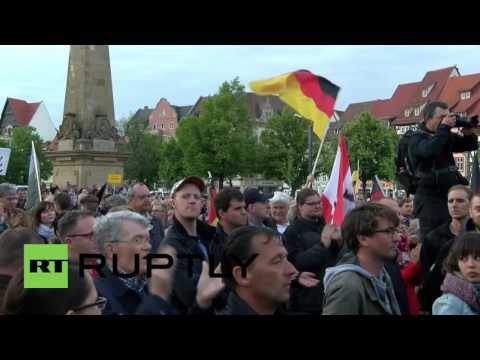 Germany: AfD supporters protest plan to build first mosque in Thuringia