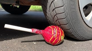 Crushing Crunchy & Soft Things by Car! - EXPERIMENT: BIG CHUPA CHUPS VS CAR