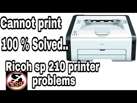 Ricoh sp 210 printer problems