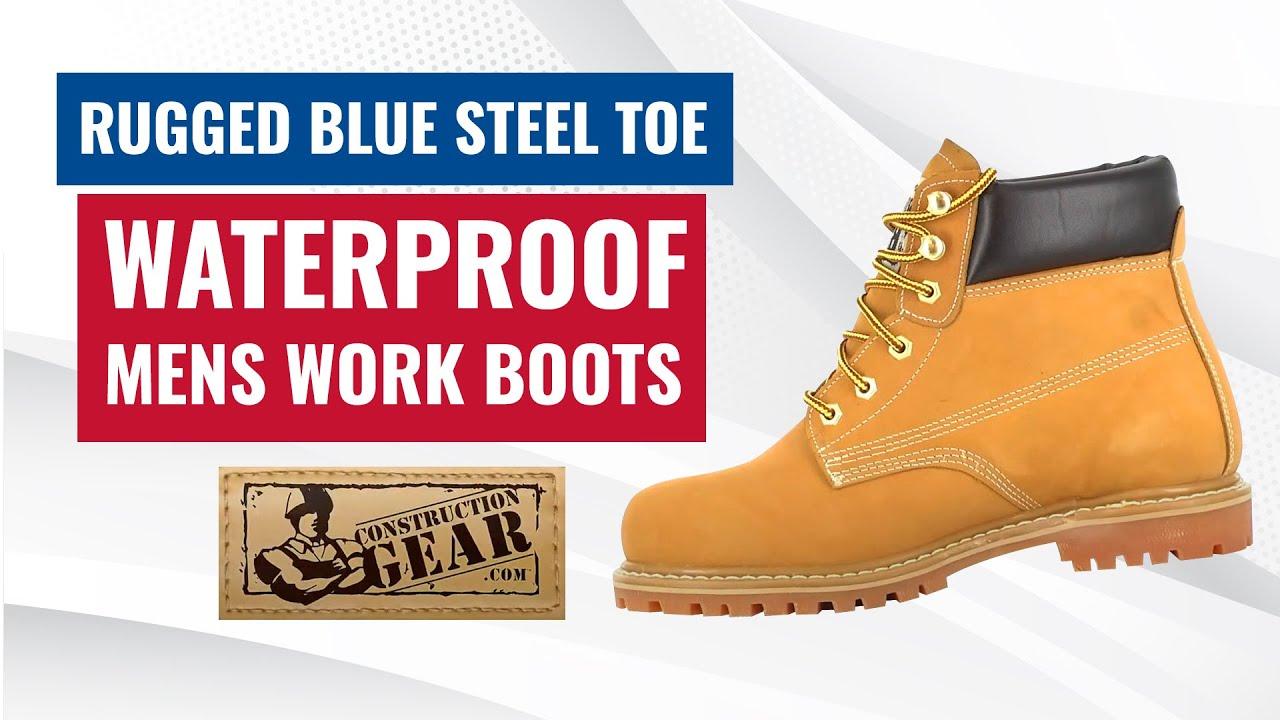 Steel Toe Waterproof Mens Work Boots