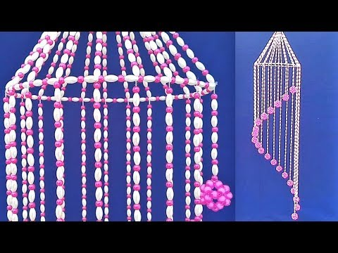 Wall Hanging Craft Ideas With Beads | How to Make wall Hanging | Beads Wall Hanging Jhumar DIY