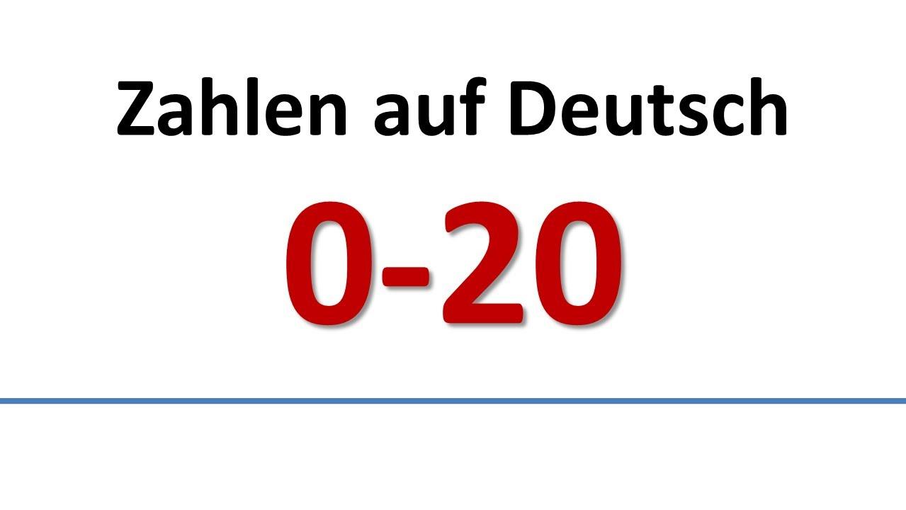 ... 20 (deutsche Untertitel)/German: Vocabulary - Numbers (German subs