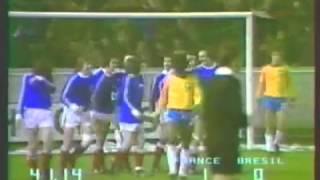 Francia - Brasile 1-0 - 1 aprile 1978 - gara amichevole