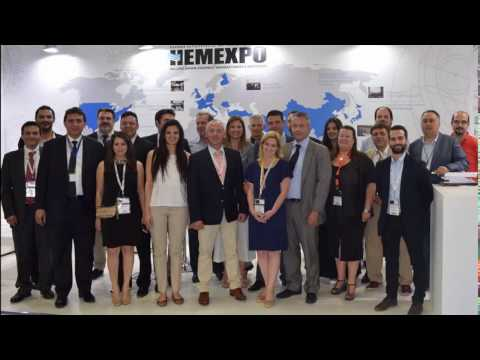 At the shipbuilding exhibition SEA ASIA 2017Singapore HEMEXPO Greek marine equipment manufacturers