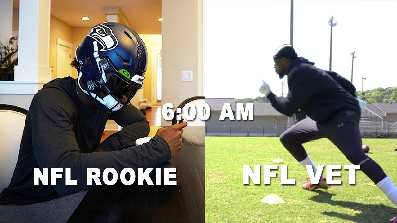 Day In The Life: NFL Rookie Vs NFL Vet