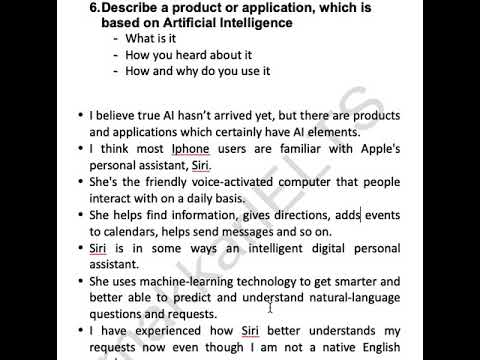 September to December 2019 Cue card 6 An app based on AI