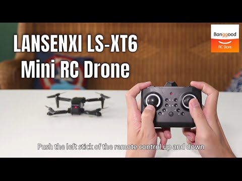 LANSENXI LS-XT6 Mini WiFi FPV with 4K/1080P HD Dual Camera RC Drone Quadcopter - Banggood RC Store