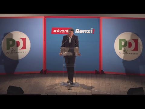Apertura campagna elettorale Matteo Renzi