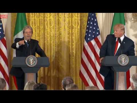 QUESTION TIME: President Donald Trump Joint Press Conference Prime Minister Paolo Gentiloni 4/20/17