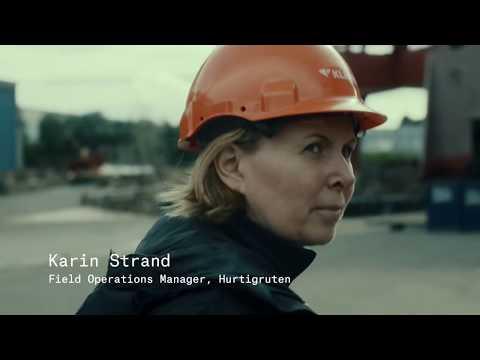 Expedition Leader Karin Strand introducing MS Roald Amundsen