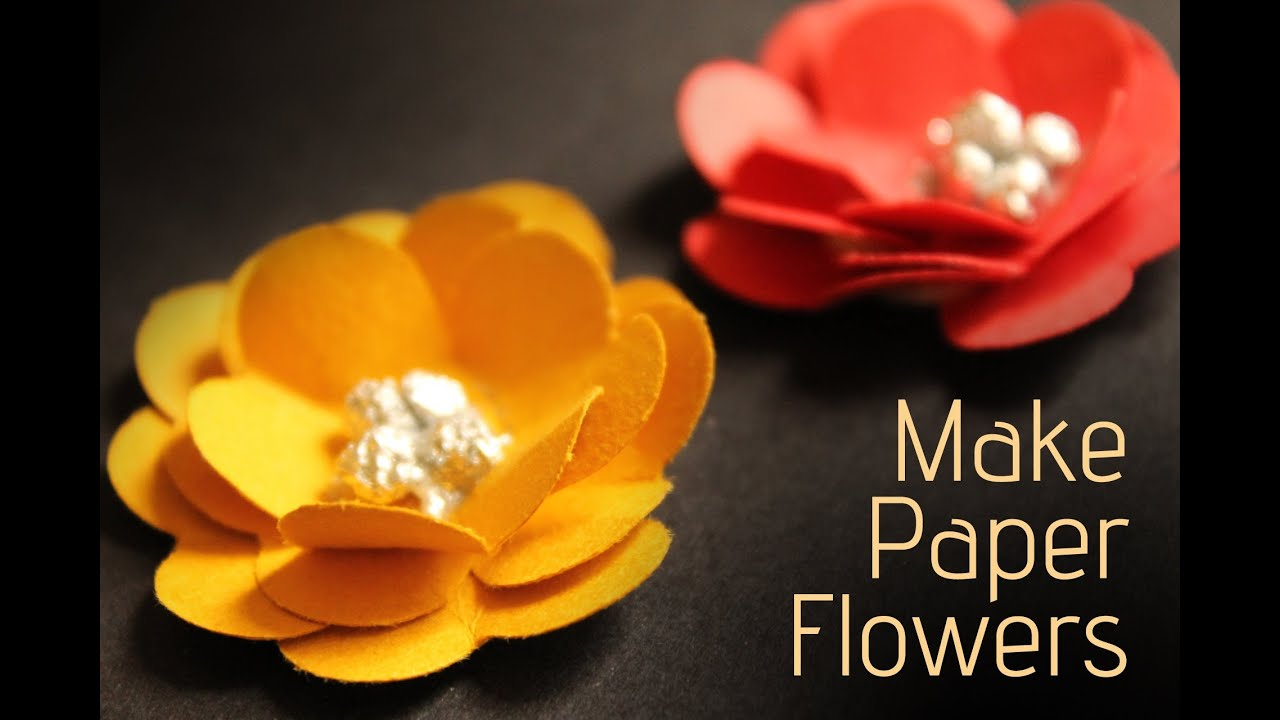 Making paper flowers youtube image collections fresh lotus flowers paper flowers youtube psychologyarticlesfo mightylinksfo