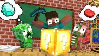 Monster School : LUCKY BLOCK Challenge - Minecraft Animation