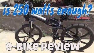 Should you buy a 250 watt electric bike   Is 250 watts enough?  Ancheer ebike review