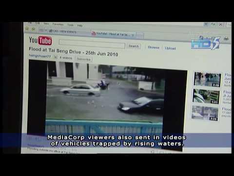 News on Singapore Flash Flood on 25 Jun 2010