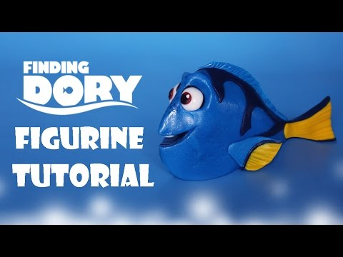 How To Make Dory Figurine Tutorial Fondant Cake Topper YouTube